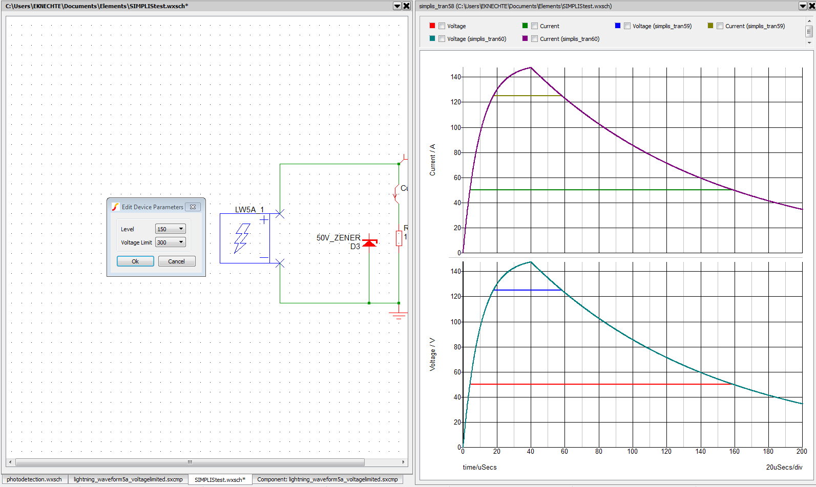 circuit simulations with ltspice vs  simetrix  simplis  u2013 k u0026 39 nek